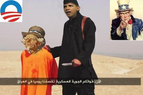 Obama beheads Uncle Sam