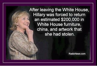 clinton-steals-silverware-and-china